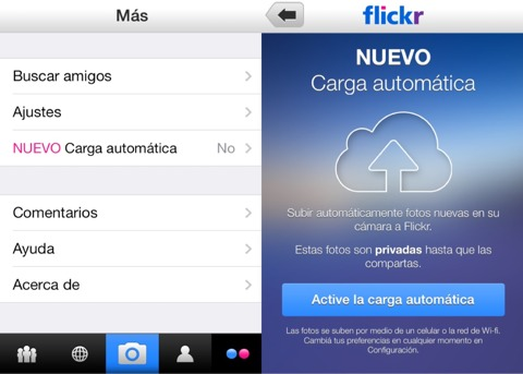 Backup automático de imágenes con Flickr