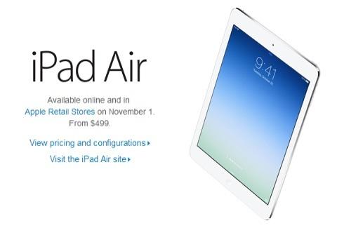 iPad Air en EEUU