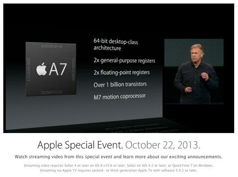 Video del evento de Apple