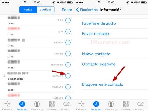 Bloquear un número en el iPhone