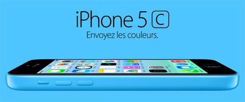 iPhone 5C azul en Francia