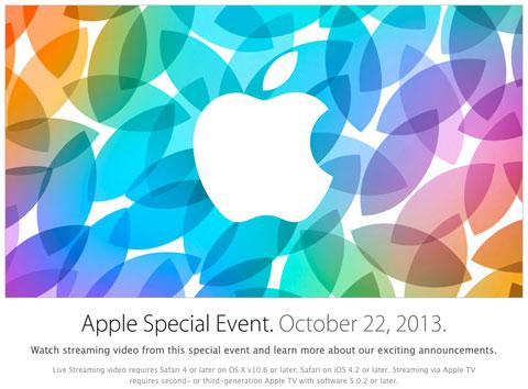 Evento de Apple en su web