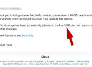 iCloud pasa a tener sólo 5 GB para usuarios de pago de la extinta MobileMe