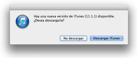 iTunes 11.1.1 ya disponible