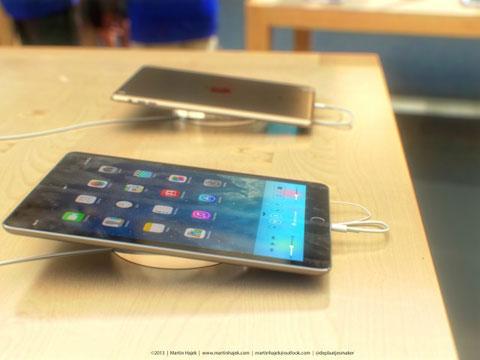 Concepto de diseño del iPad de quinta generación lleno de porquería