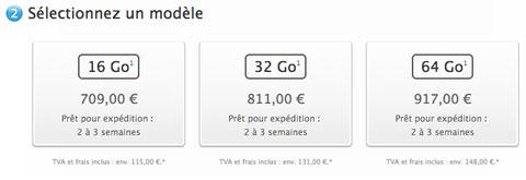 Precios del iPhone 5S en Francia
