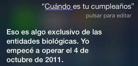 Cumpleaños de Siri