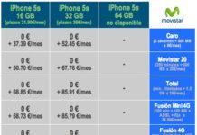 Tarifas de Movistar para el iPhone 5S