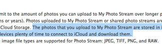 30 días de límite en el PhotoStream