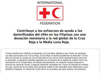 Donaciones a Filipinas desde una cuenta Española