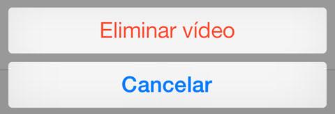 Eliminar video