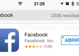 Buscasndo por faebook en la App Store