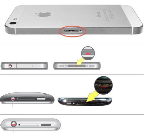 Indicadores de humedad en todos los modelos de iPhone