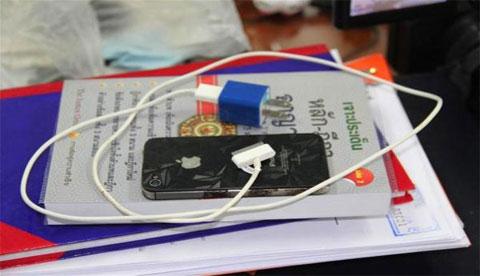 iPhone del incidente en Tailandia