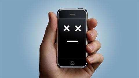 iPhone infeliz