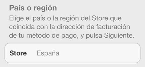País o Región