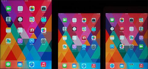 Todas las pantallas, comparadas