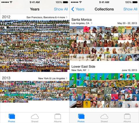 App de Fotos de iOS 7