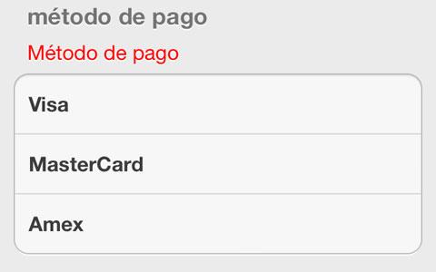 Sólo tarjetas de crédito