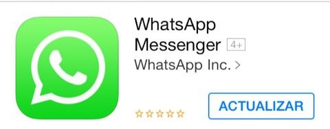 Whatsapp lista para actualizarse