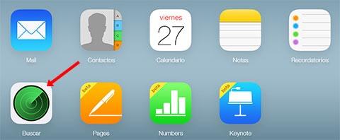 Versión Web de Buscar mi iPhone