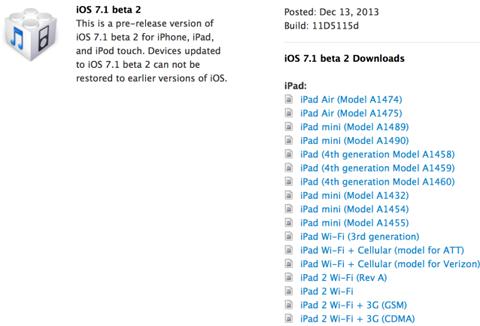 Beta 2 de iOS 7.1
