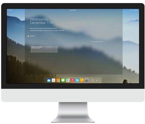 Interfaz de iOS 7 en un Mac
