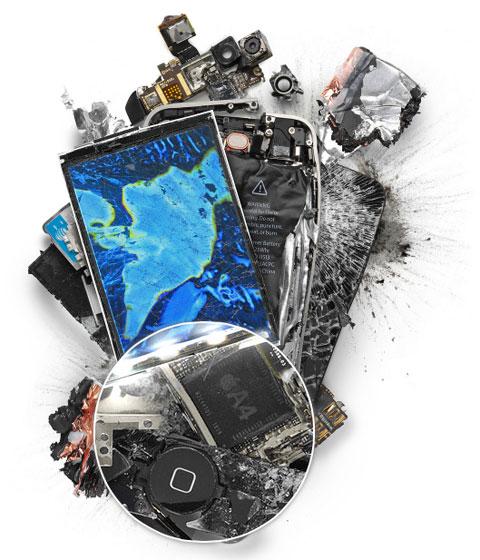 iPhone 4 destrozado de  Michael Tompert