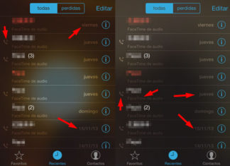 Textos ilegibles en la App de FaceTime