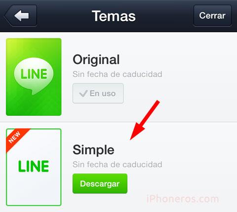 Tema Simple en LINE