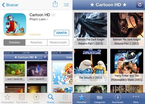 descargar peliculas app store