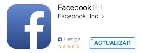 Actualización de Facebook