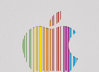 Código de barras en el logo de Apple