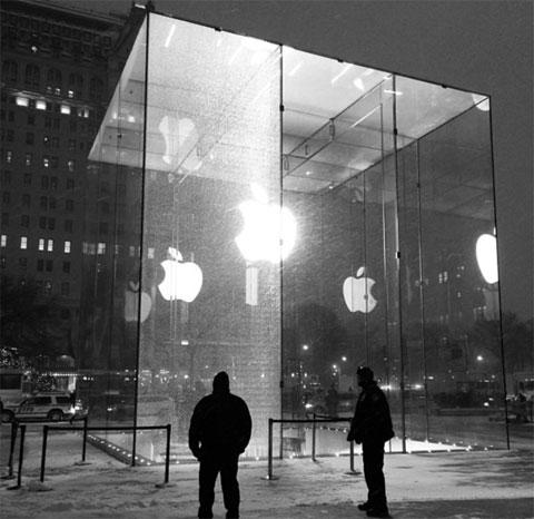 Cristal roto en la Apple Store de la Quinta Avenida