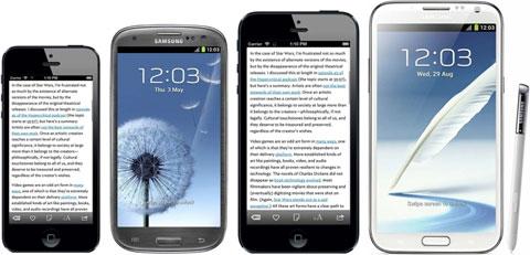 iPhone con pantalla de 4,9 pulgadas