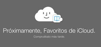 Proximamente Favoritos en iCloud