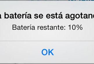 Sólo 10% de batería restante