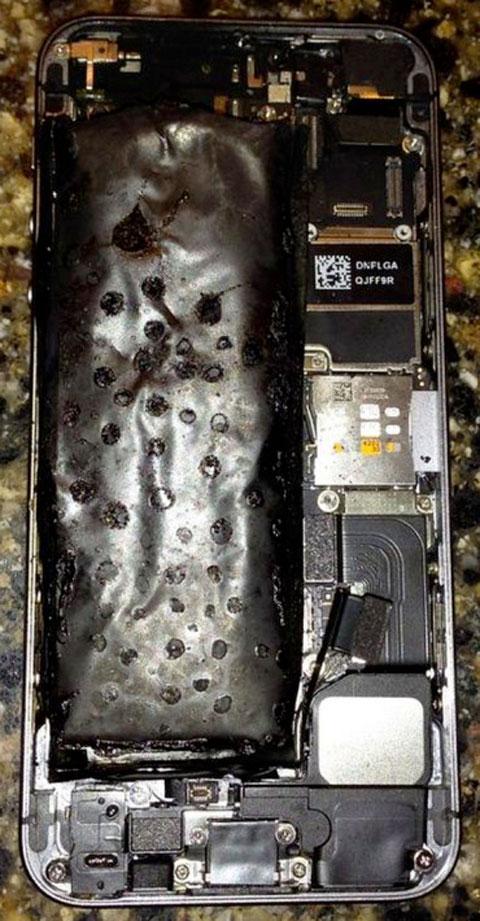Batería quemada