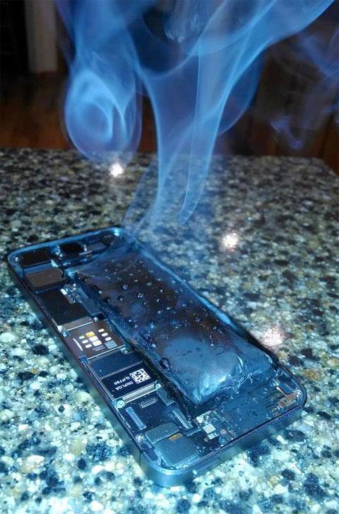 iPhone 5S quemado