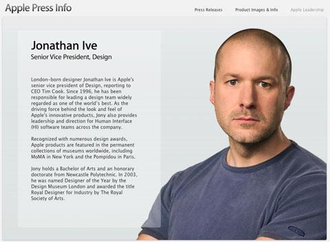 Jonathan Ive en la web de Apple