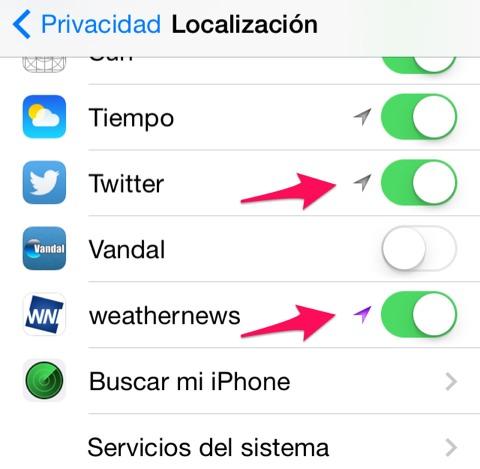 Apps que utilizan localización