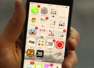 Apps en la primera página de iOS