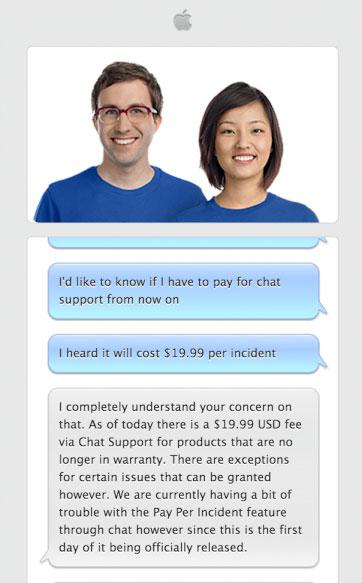 Chat de soporte