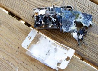 iPhone destrozado