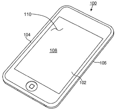 Dibujo del iPhone que aparece en la patente