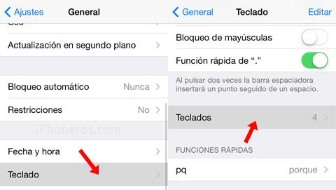Cómo activar Emojis en iOS