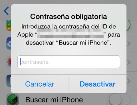 Bloqueo de iCloud