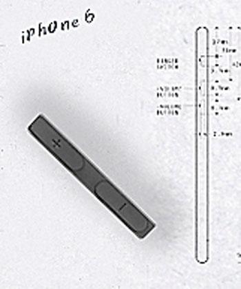Supuestos botones del iPhone 6