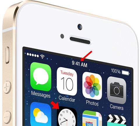 iPhone 5S mostrando las 9:41