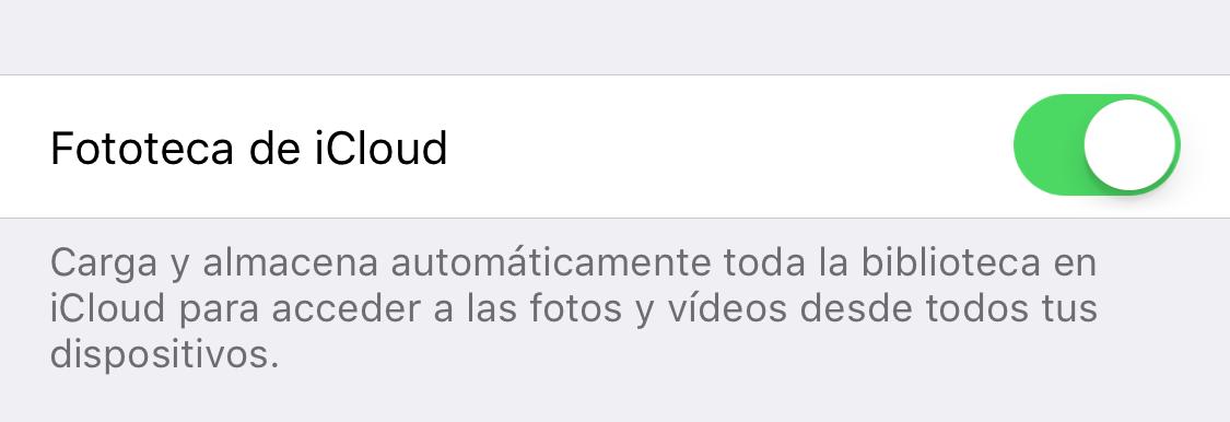 Copia de seguridad de tus fotos en iCloud